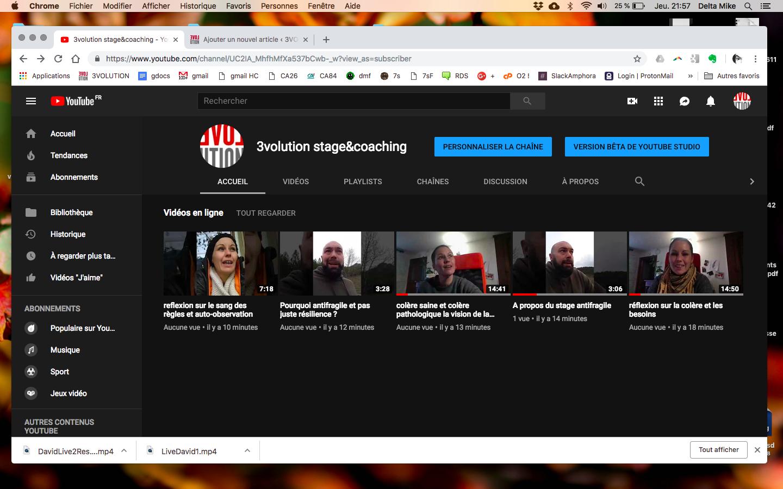 Une chaîne Youtube :)